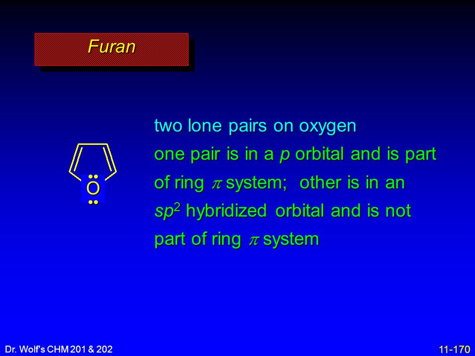 two lone pairs on oxygen