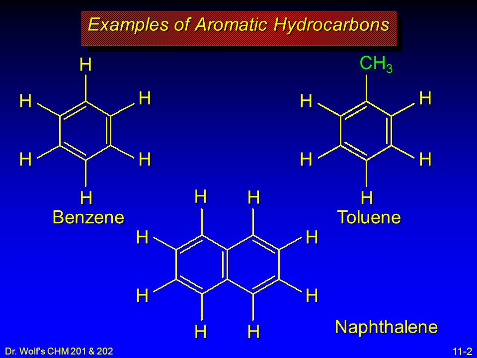 Examples of Aromatic Hydrocarbons
