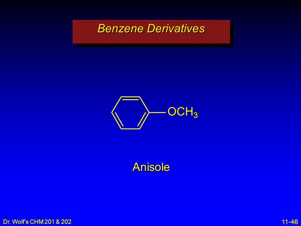 Benzene Derivatives OCH3 Anisole Dr. Wolf s CHM 201 & 202 8