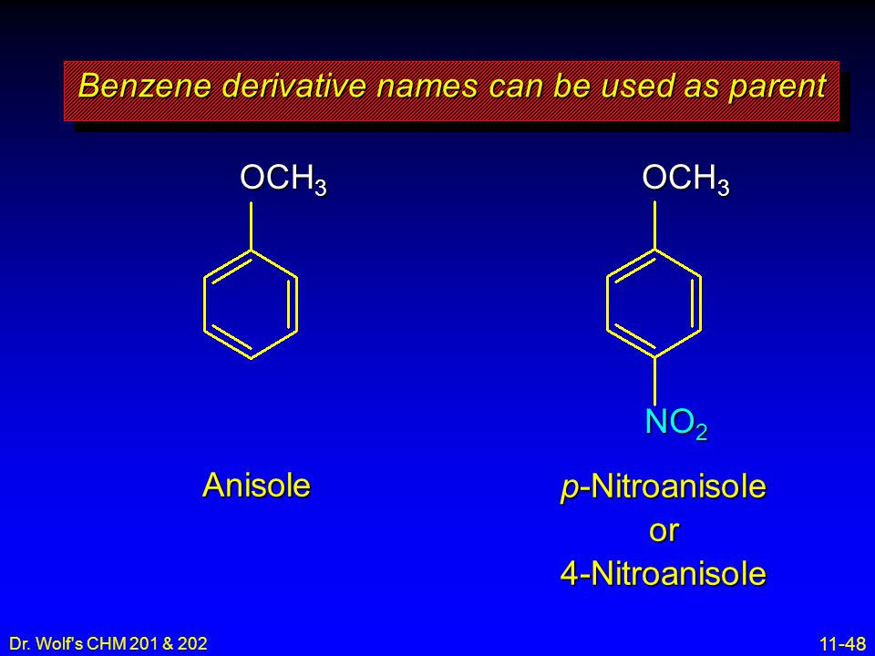 Benzene derivative names can be used as parent