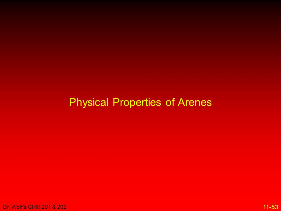 Physical Properties of Arenes