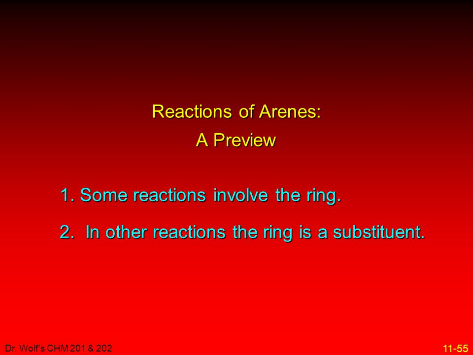 Reactions of Arenes: A Preview