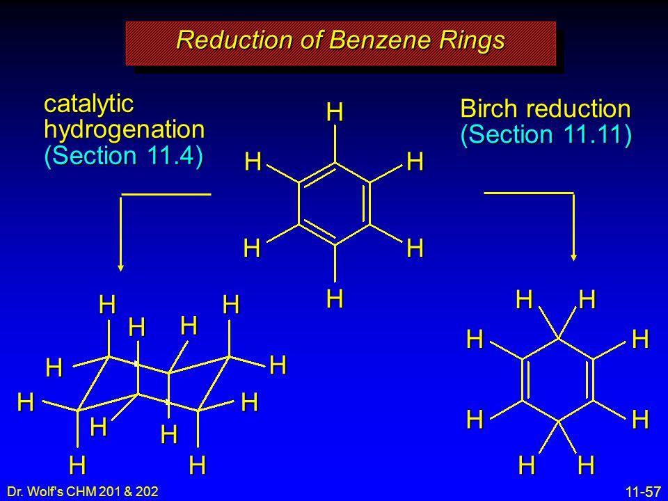 Reduction of Benzene Rings