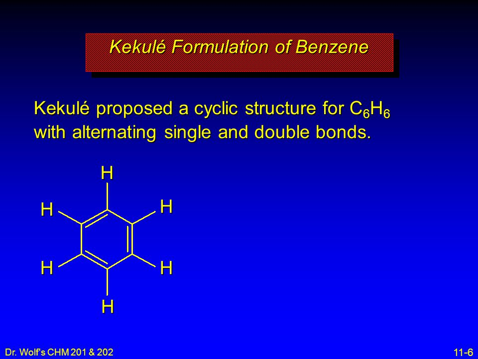 Kekulé Formulation of Benzene