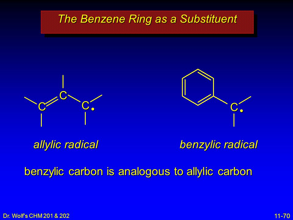 The Benzene Ring as a Substituent