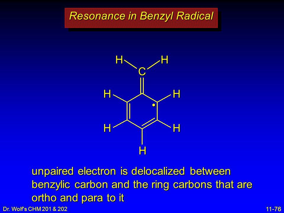 Resonance in Benzyl Radical