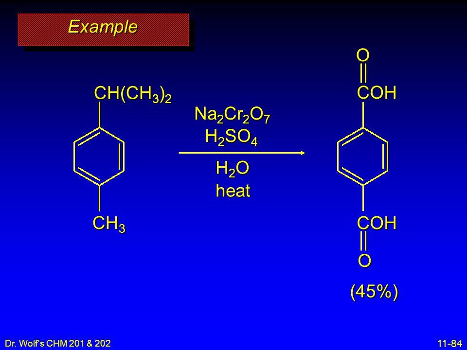 Example O CH(CH3)2 COH Na2Cr2O7 H2SO4 H2O heat CH3 (45%) 26
