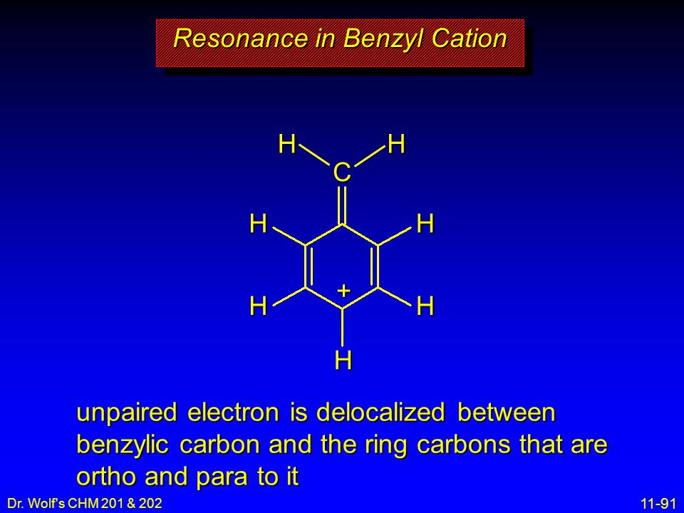 Resonance in Benzyl Cation