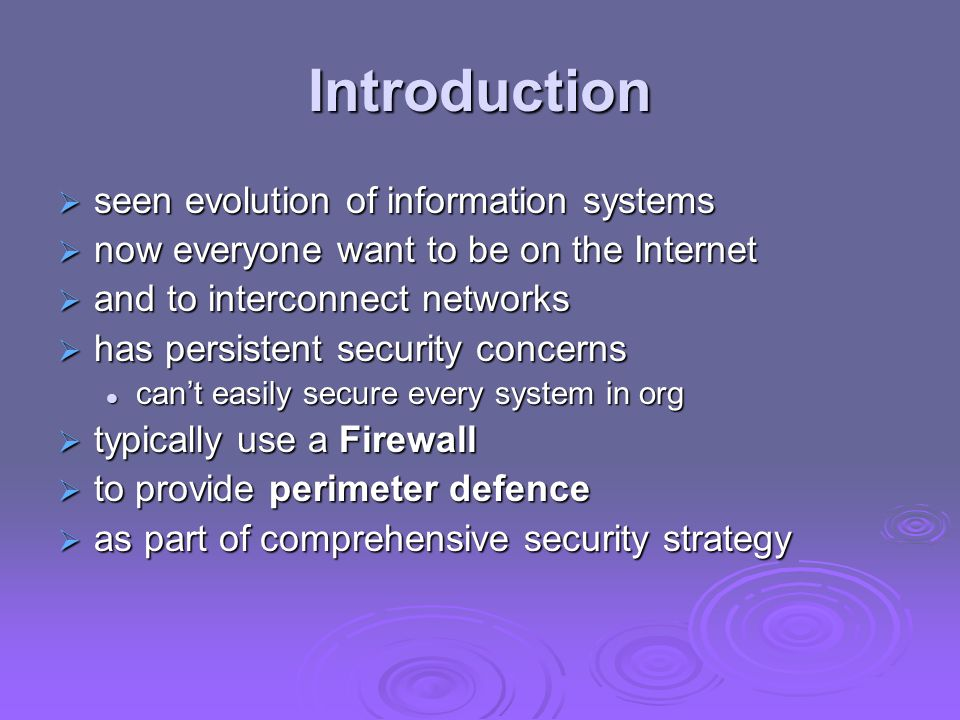 Introduction seen evolution of information systems