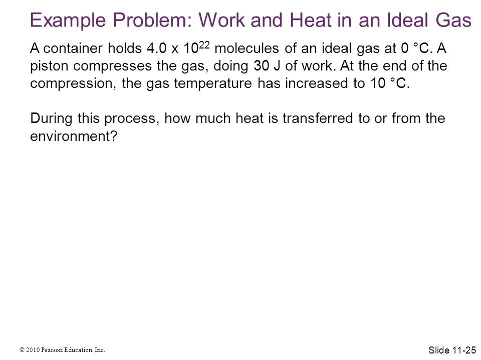 Example Problem: Work and Heat in an Ideal Gas