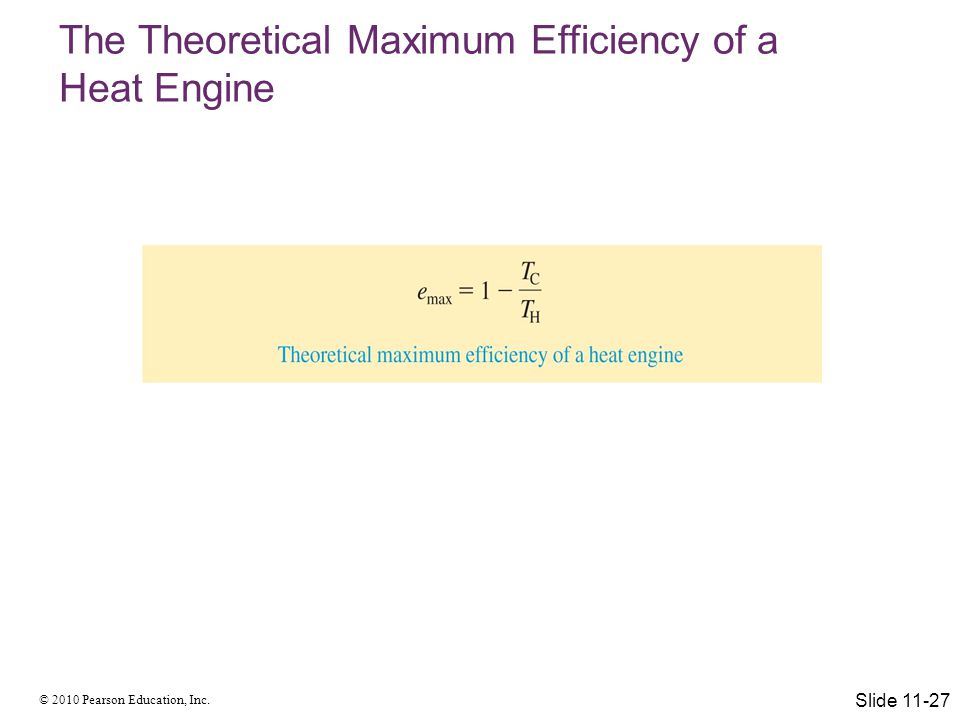 The Theoretical Maximum Efficiency of a Heat Engine