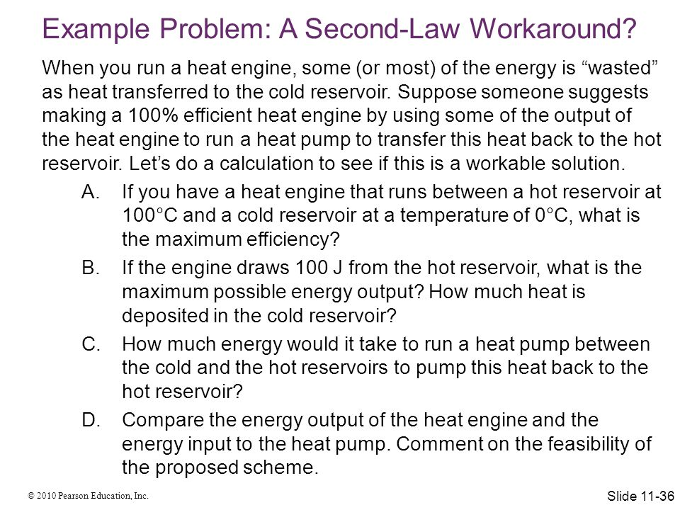 Example Problem: A Second-Law Workaround