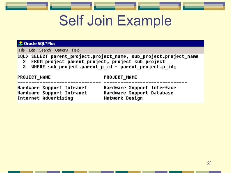 Self Join Example