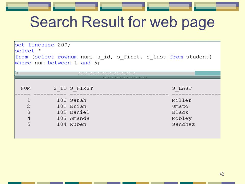 Search Result for web page