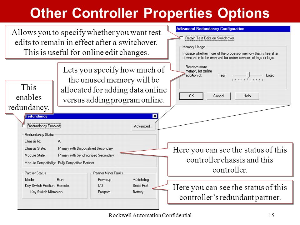 Other Controller Properties Options