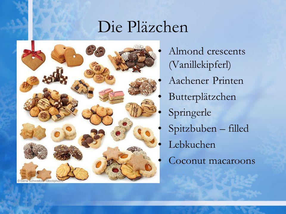 Die Pläzchen Almond crescents (Vanillekipferl) Aachener Printen