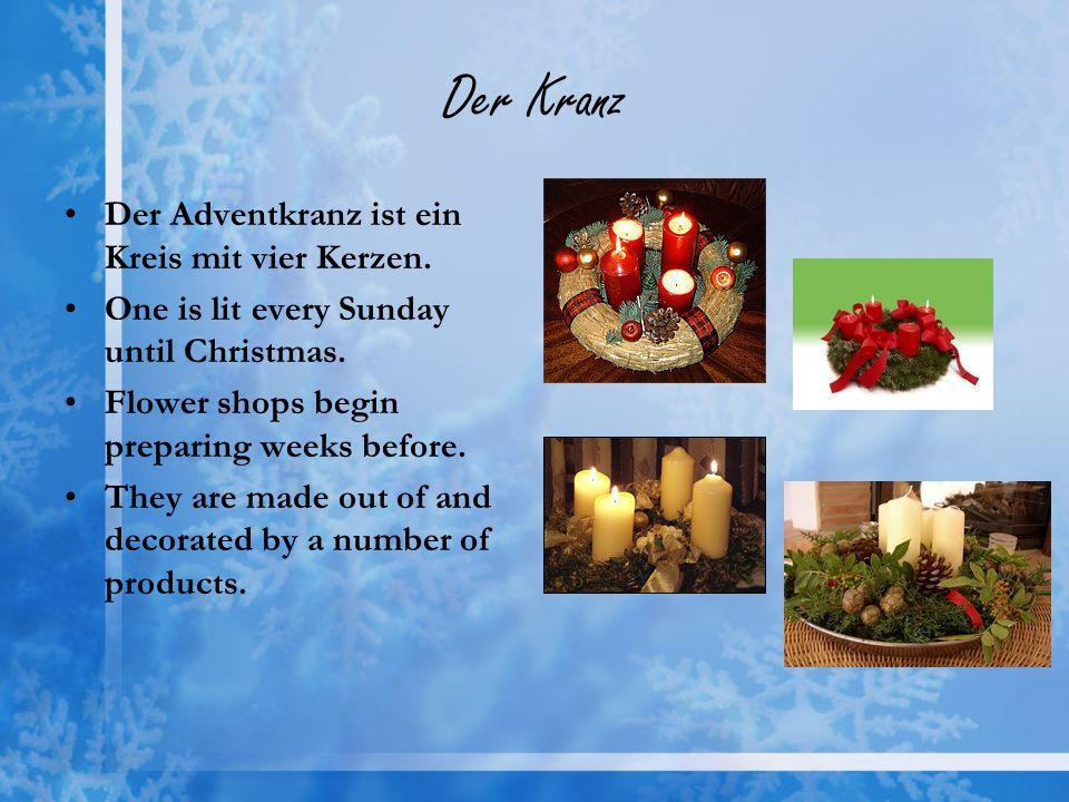 Der Kranz Der Adventkranz ist ein Kreis mit vier Kerzen.