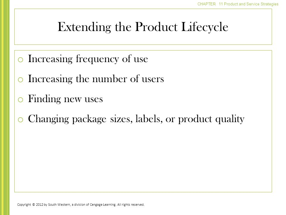 Extending the Product Lifecycle