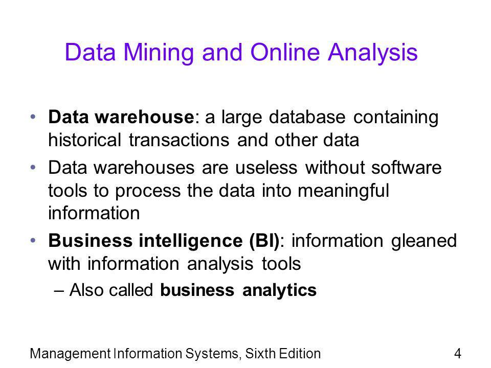 Data Mining and Online Analysis