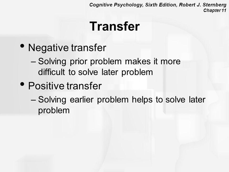 Transfer Negative transfer Positive transfer