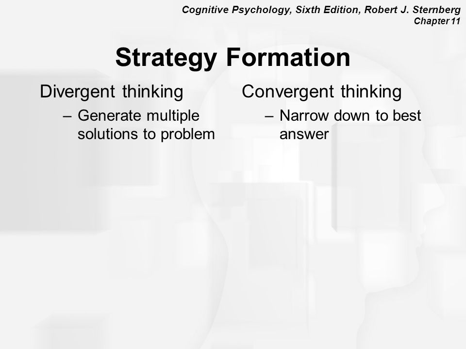 Strategy Formation Divergent thinking Convergent thinking