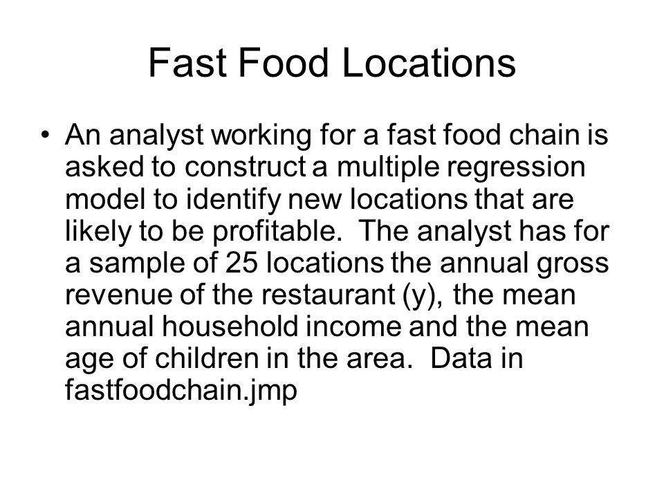 Fast Food Locations