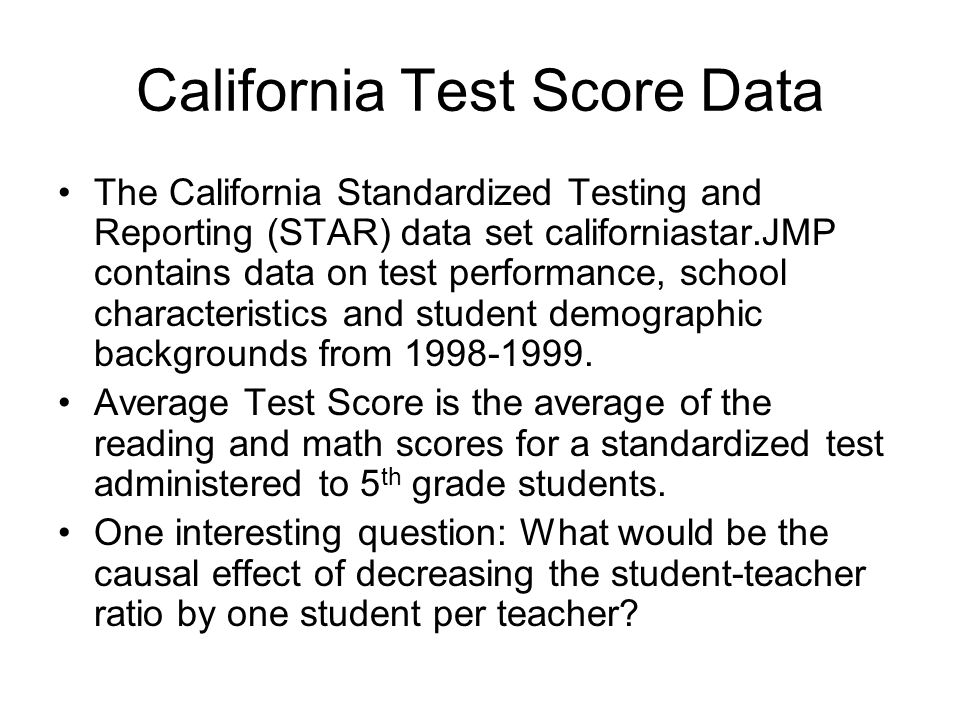 California Test Score Data