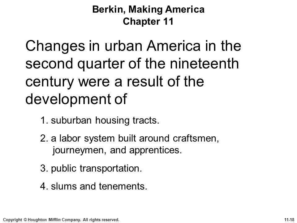 Berkin, Making America Chapter 11