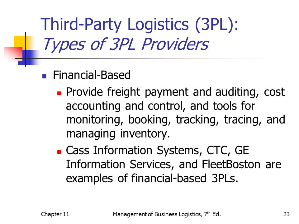 Third-Party Logistics (3PL): Types of 3PL Providers