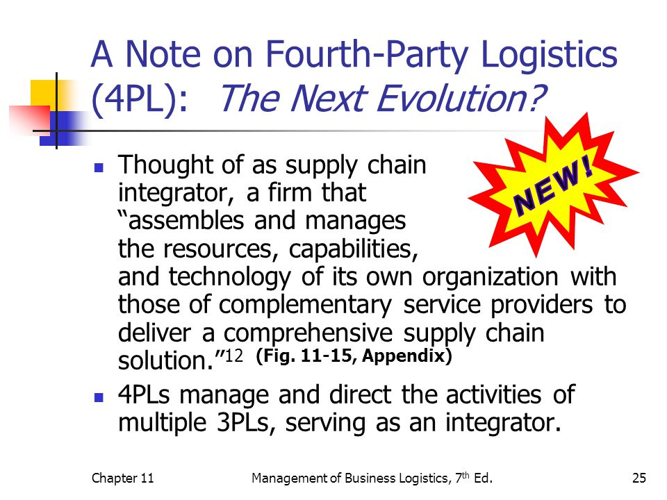 A Note on Fourth-Party Logistics (4PL): The Next Evolution