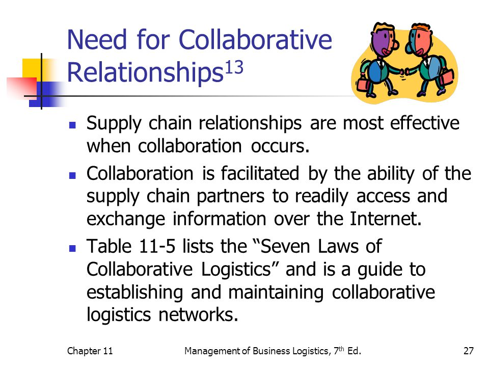 Need for Collaborative Relationships13