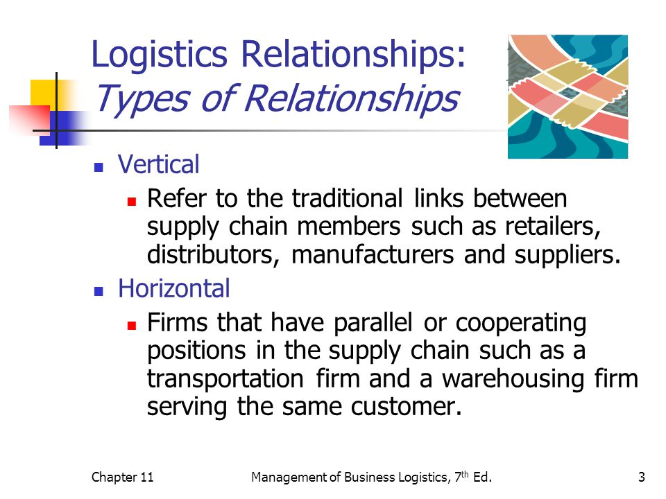 Logistics Relationships: Types of Relationships