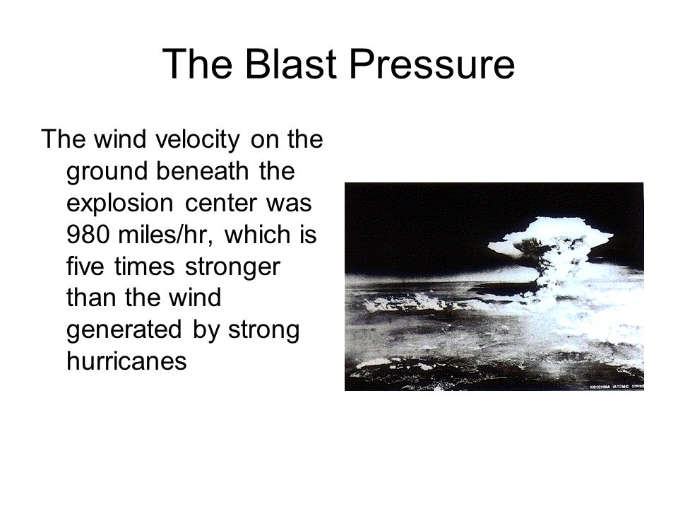 The Blast Pressure