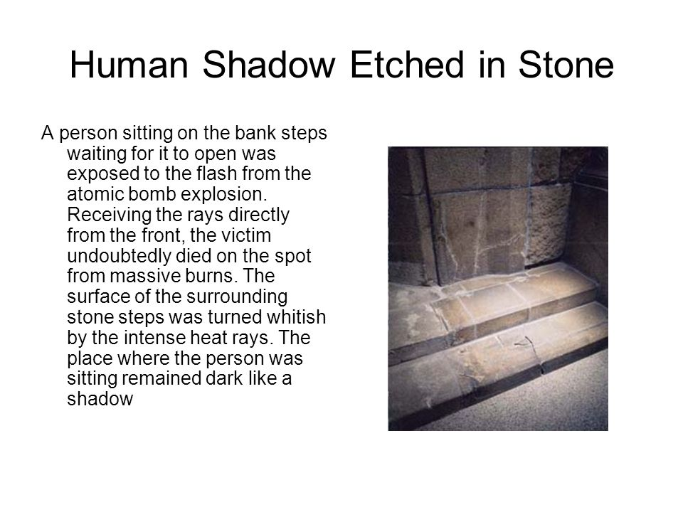 Human Shadow Etched in Stone