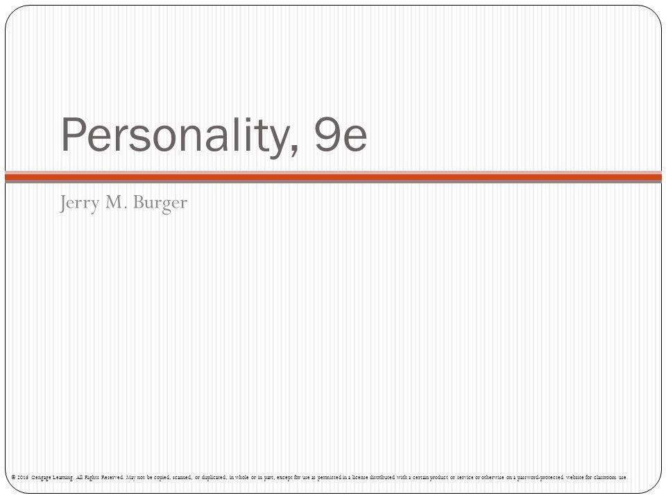 Personality, 9e Jerry M. Burger
