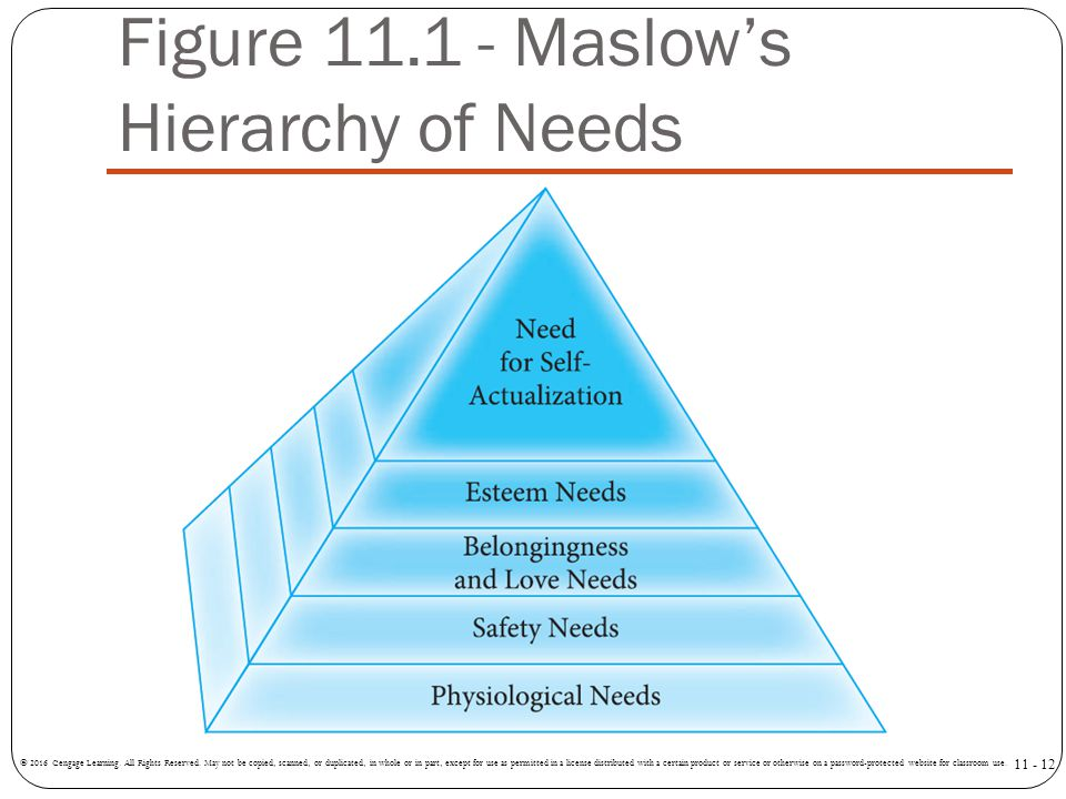 Figure 11.1 - Maslow's Hierarchy of Needs