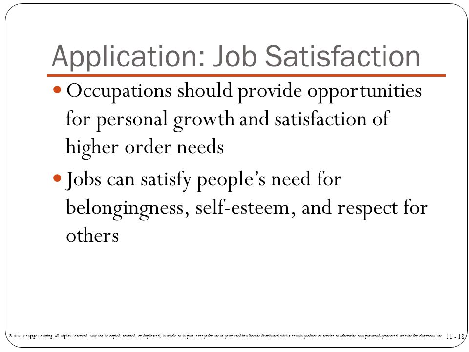Application: Job Satisfaction