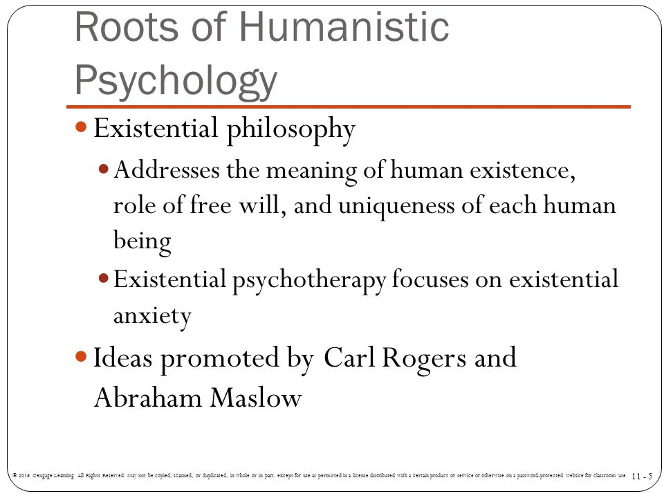 Roots of Humanistic Psychology