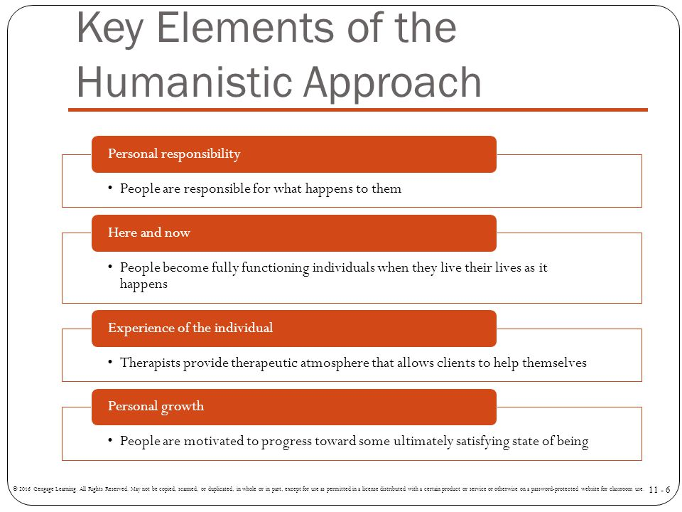 Key Elements of the Humanistic Approach