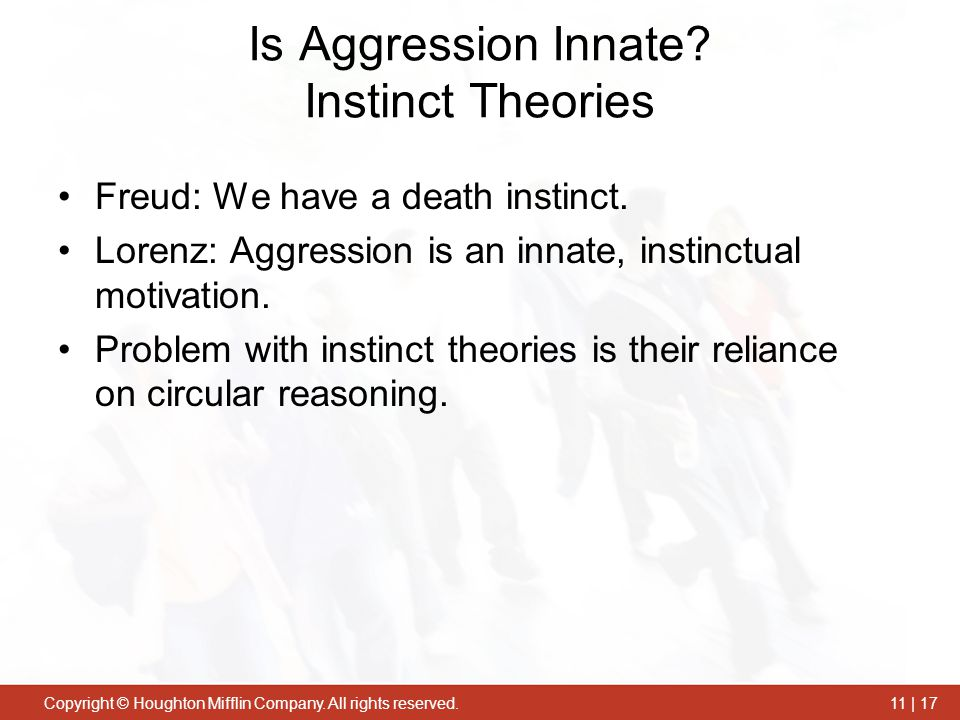 Is Aggression Innate Instinct Theories