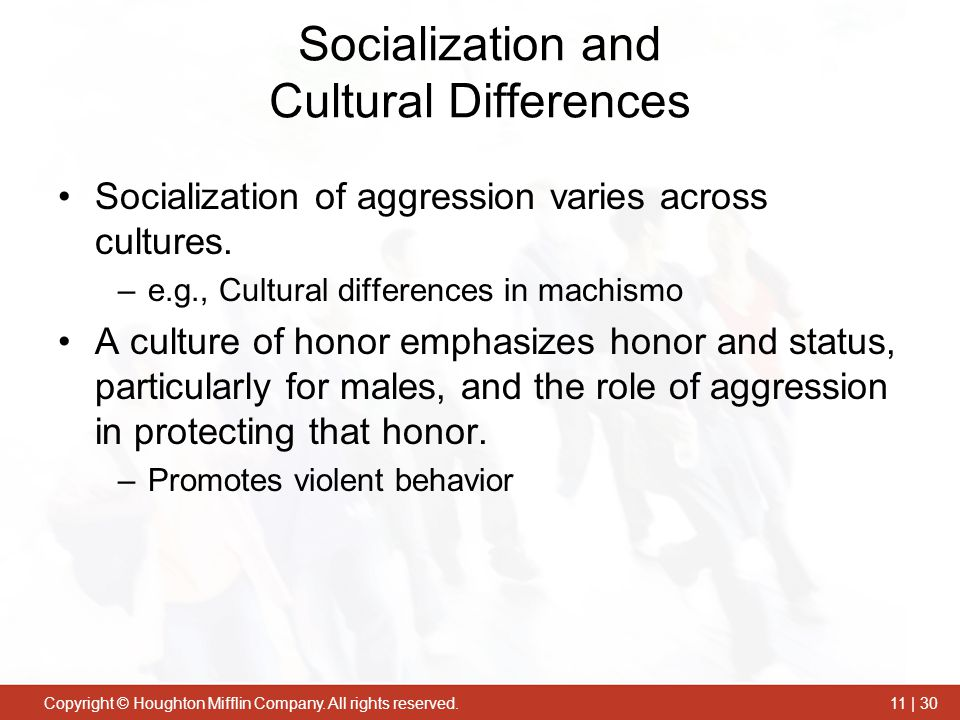 Socialization and Cultural Differences