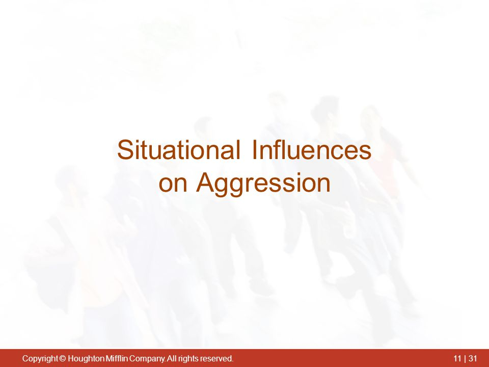 Situational Influences on Aggression