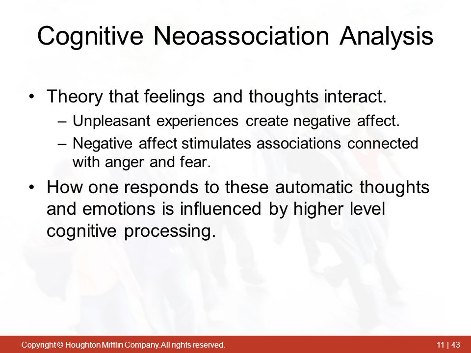 Cognitive Neoassociation Analysis