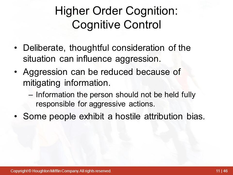 Higher Order Cognition: Cognitive Control