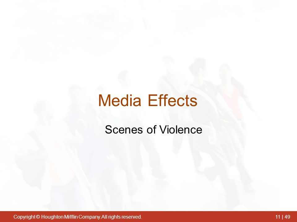 Media Effects Scenes of Violence