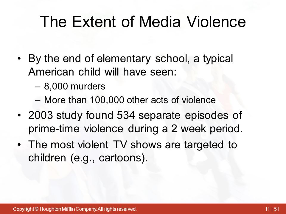 The Extent of Media Violence