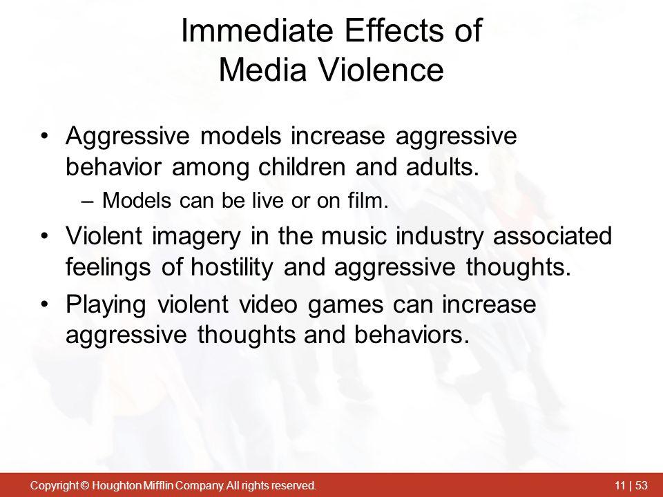 Immediate Effects of Media Violence