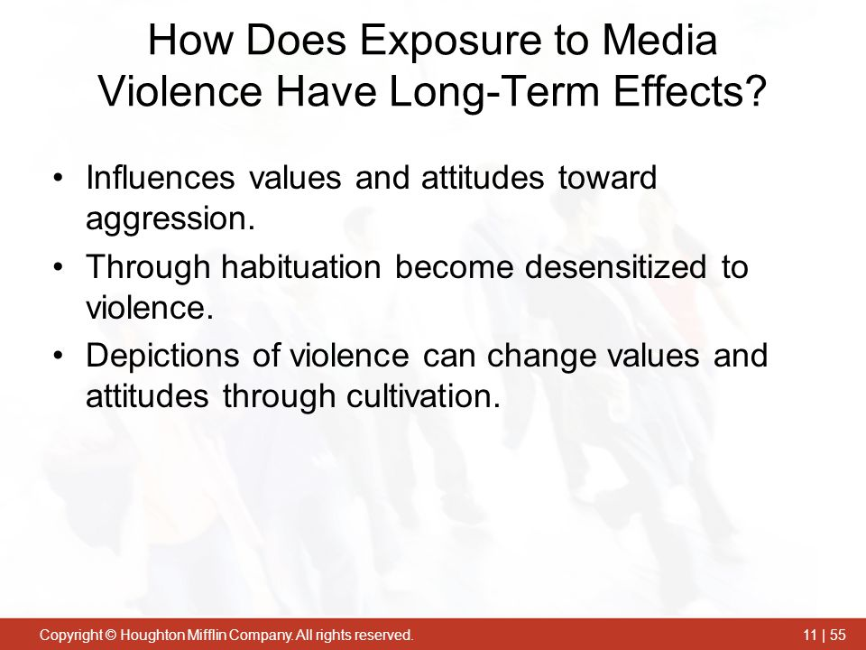 How Does Exposure to Media Violence Have Long-Term Effects