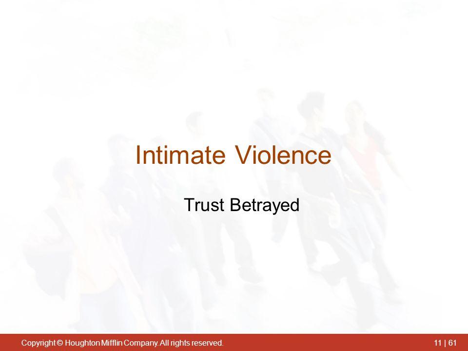 Intimate Violence Trust Betrayed