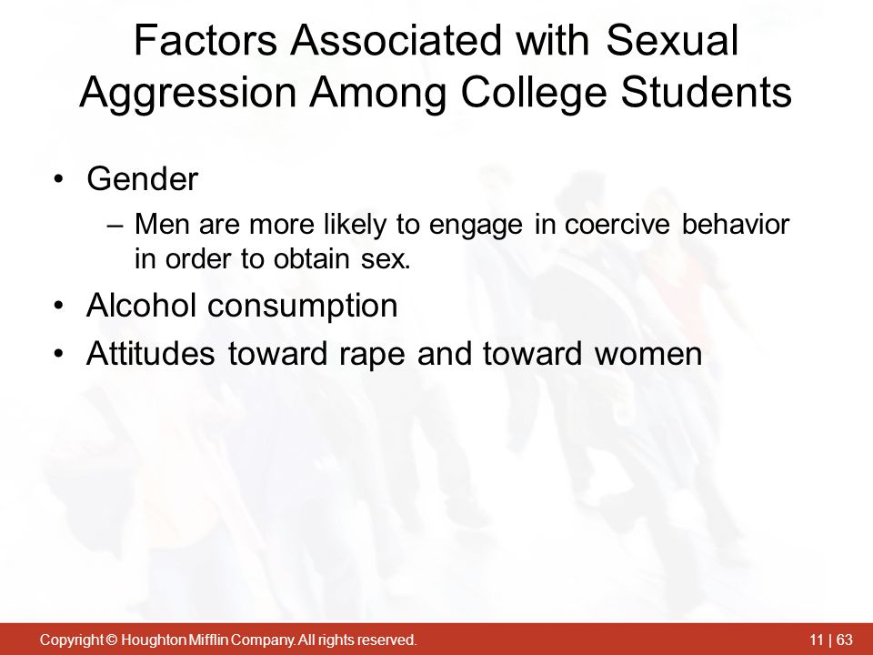 Factors Associated with Sexual Aggression Among College Students
